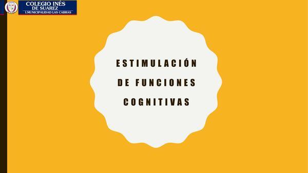 Actividades funciones cognitivas prebásica