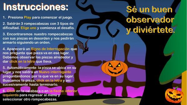 Juego de Rompecabezas (Halloween)
