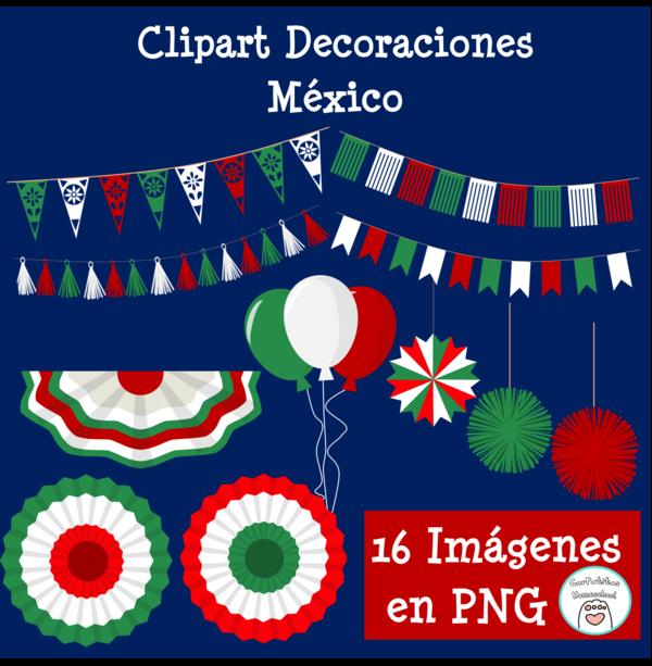 Clipart Decoraciones México | Fiestas Patrias
