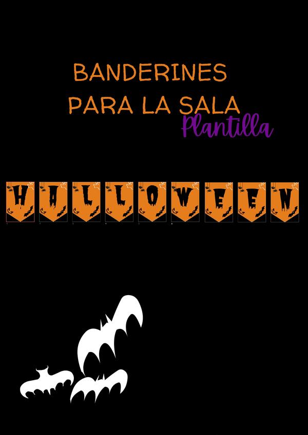 "Banderín ""Halloween"" para tu sala o para tu casa"
