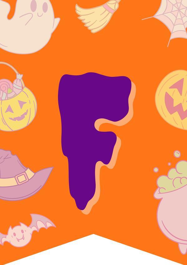 Banderines para decorar (Halloween)