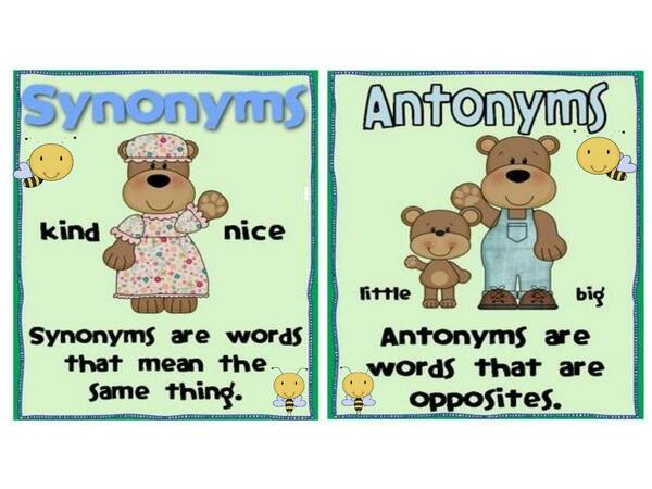 GAME OF SYNONYMS AND ANTONYMS