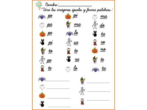 Forma Palabras Halloween
