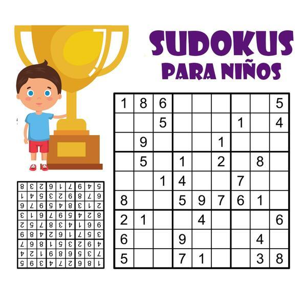 Sudokus fáciles para niños.