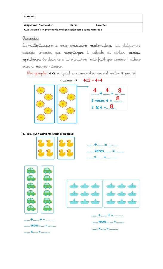 Guía Multiplicación