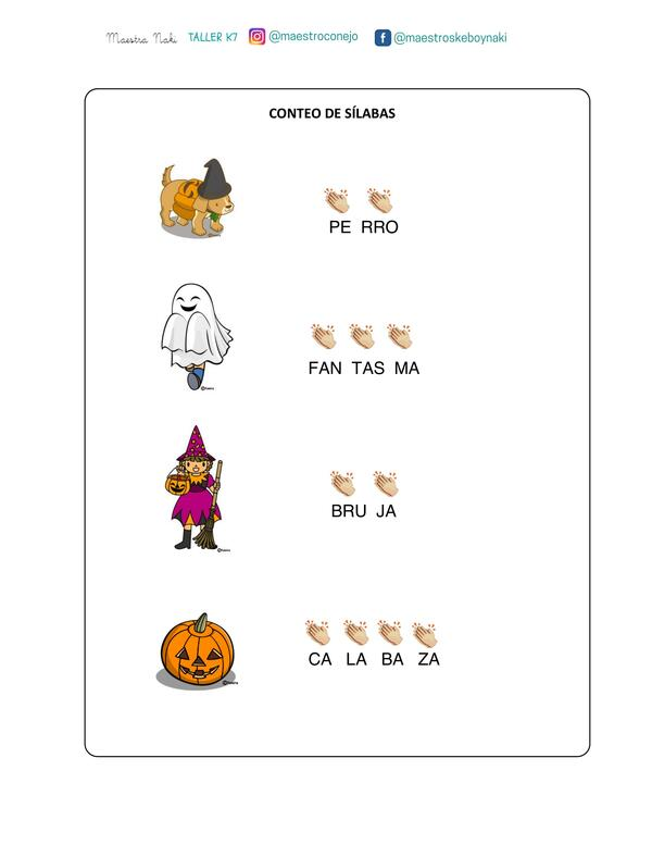Actividades (plantillas). Halloween.