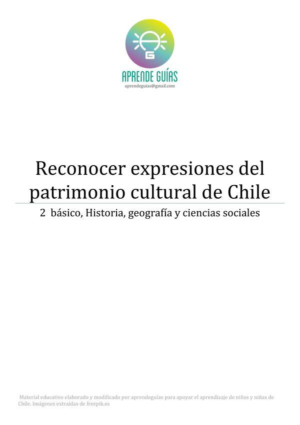 Reconocer expresiones del patrimonio cultural en Chile