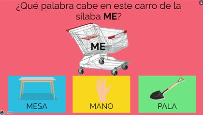 Supermercado de la sílaba inicial