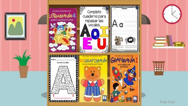 Biblioteca de libros de lenguaje y matemática