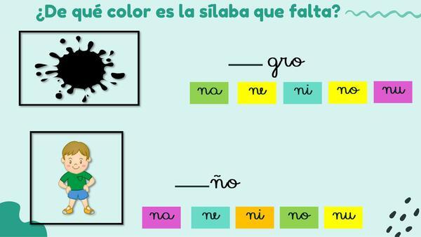 Letras N y V