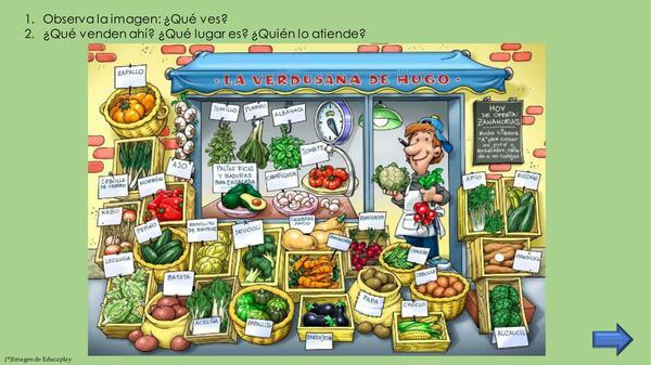 Categoría semántica: verduras