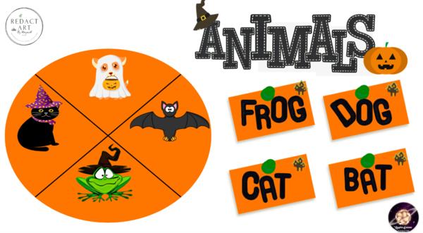 Aprendo los Animales de Halloween en Ingles