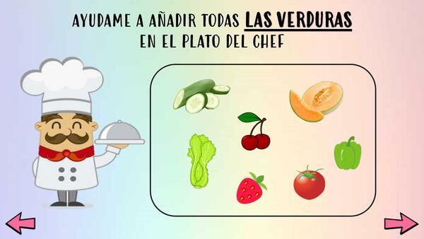 Clasificación frutas y verduras
