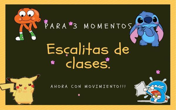 """Set """"Escalas de clases con movimiento"""". EDITABLES."""