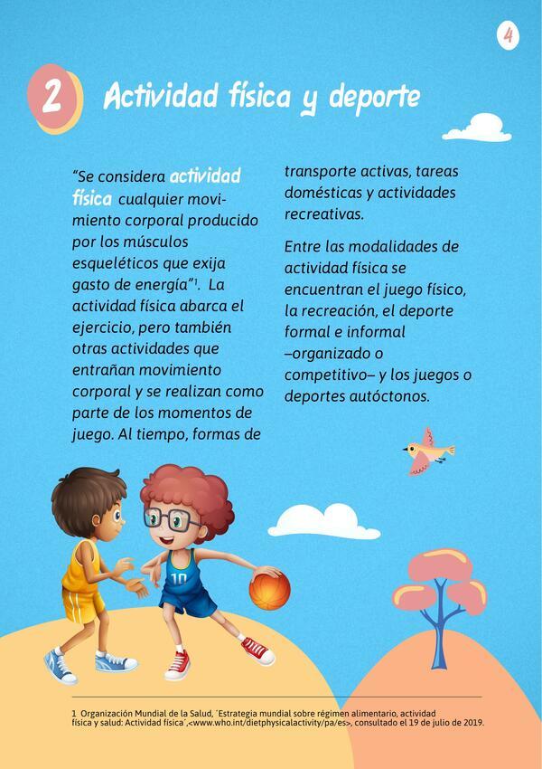 La actividad física en niños y adolescentes