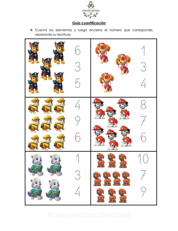 Cuantificación 1 al 10