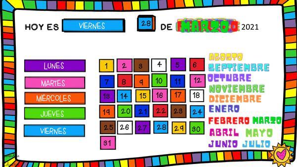 Calendario interactivo Anual + Clima (Español)