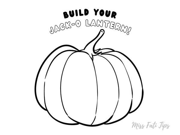 """Build your Jack-o Lantern"" Manualidad para Halloween"
