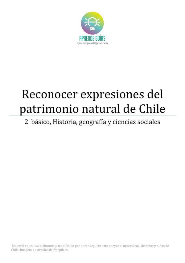 Reconocer expresiones del patrimonio natural en Chile