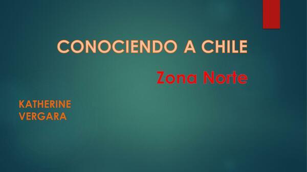 PPT zona norte de Chile