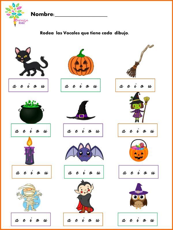 Conciencia Fonológica Halloween