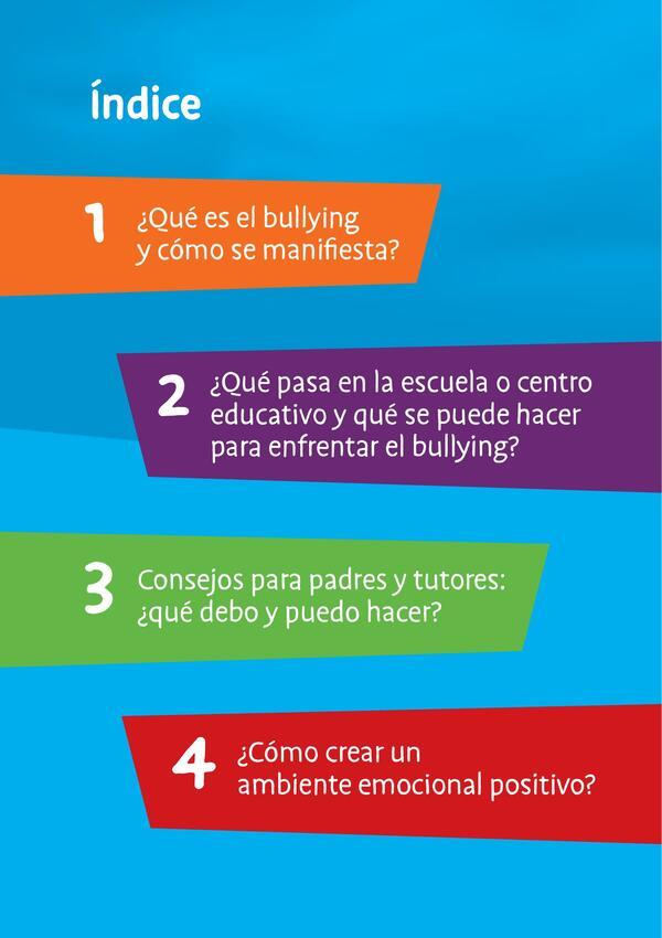 Bullying en el ambiente escolar