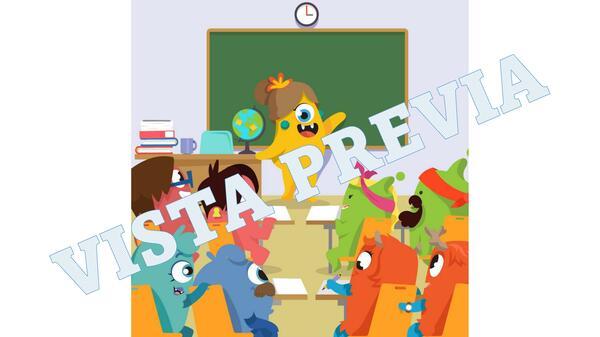 Posters de personajes Monstruos para decorar el aula o presentaciones