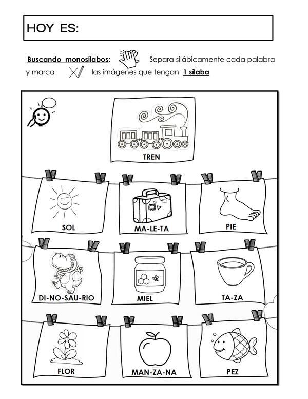 guia de lenguaje: buscando monosílabos