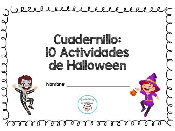 Cuadernillo Imprimible 10 Actividades de Halloween