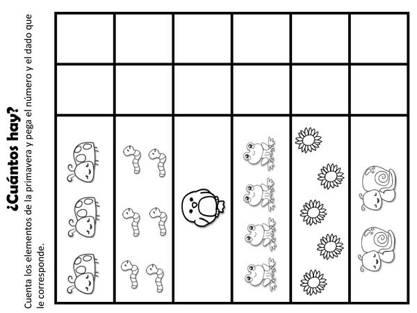 Actividades de Números y Patrones de Primavera- Material Imprimible
