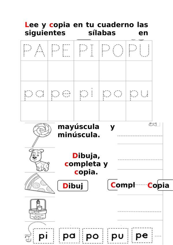 Cuadernillo actividades consonantes M-P-L-S-D y T