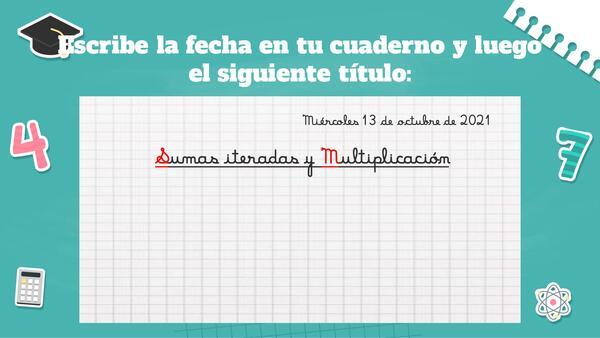 Multiplicación como suma iterada