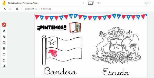 Actividad Pinta Bandera y Escudo de Chile