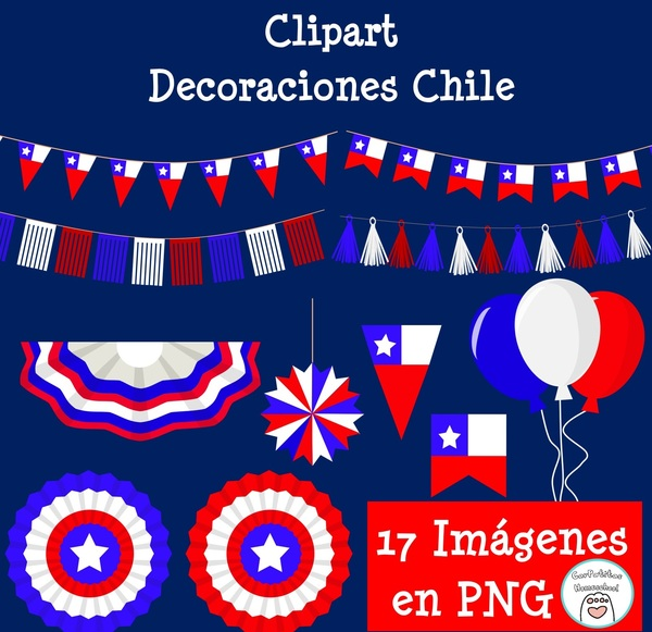 Clipart Decoraciones Chile | Fiestas Patrias