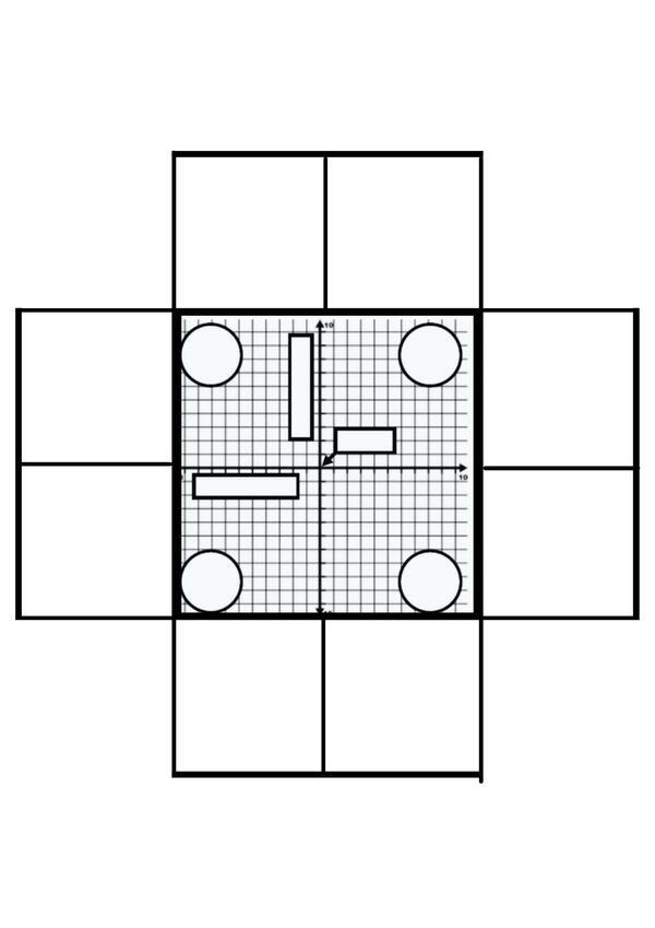 RECORTABLE- Elementos Plano Cartesiano
