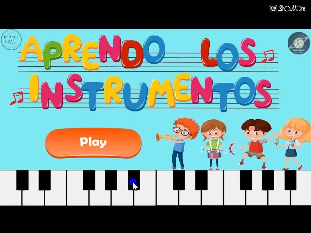 Divertido juego para reconocer los sonidos de los instrumentos musicales