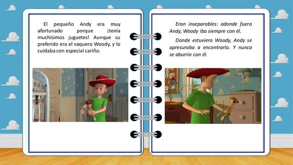"""Cuento y comprensión lectora """"Toy Story"""""""