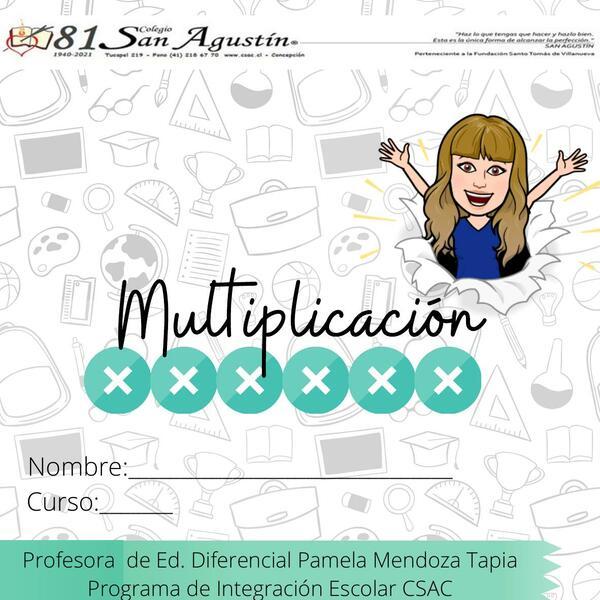 Cuadernillo de bolsillo Multiplicación