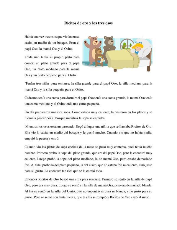 Actividades de comprensión lectora 2do básico