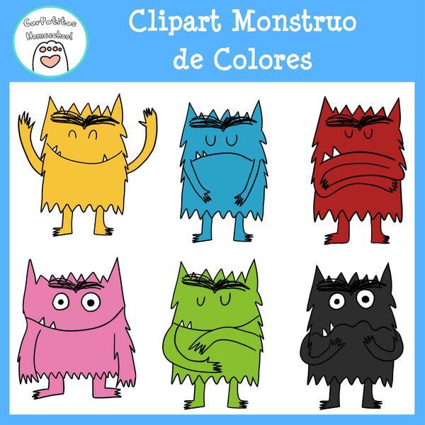 Clipart Monstruo de Colores