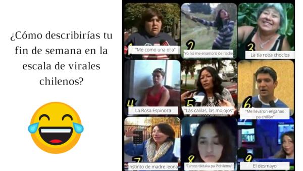 Plantilla ¿cómo estuvo el fds en la escala de virales chilenos?