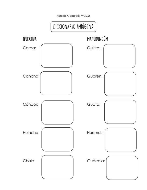 Guía: Diccionario indígena