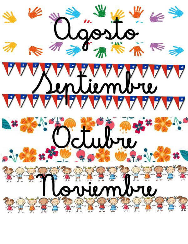 Carteles meses del año