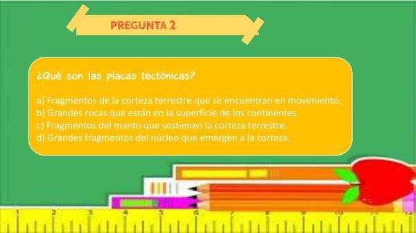 Cuestionario unidad placas tectónicas