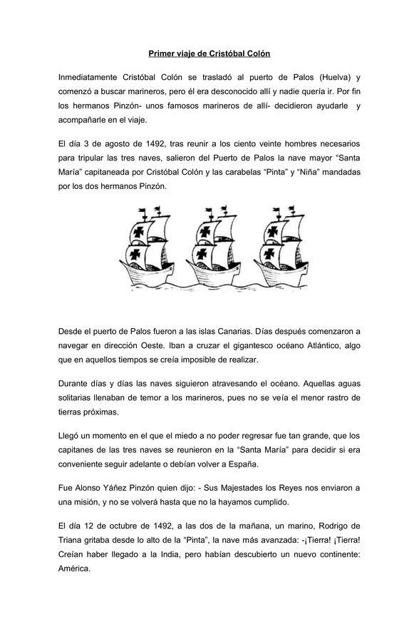 LA EMPRESA DE CRISTÓBAL COLÓN