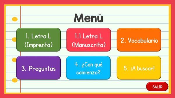 Consonante L | PowerPoint Interactivo