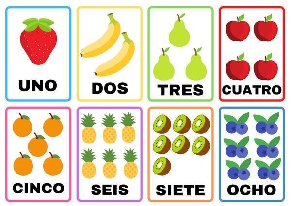 Flashcard de frutas