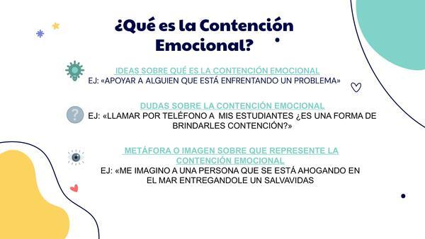 Taller de contención emocional para profesores en contexto de clases online