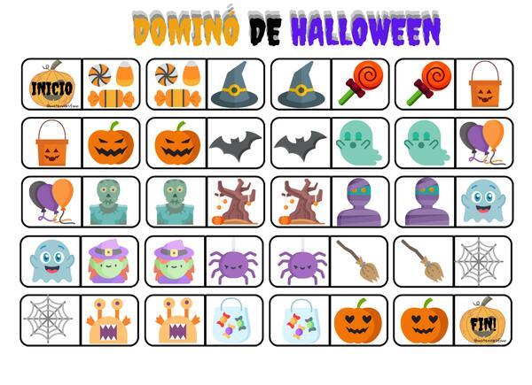 dominó de halloween