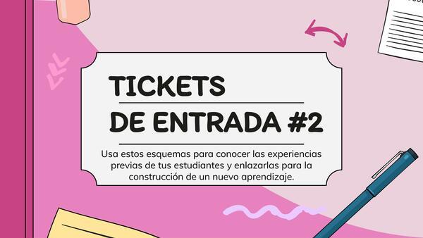 Tickets de entrada II Activación de experiencias previas